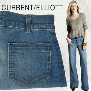 Current/ Elliott Navy high rise flare jeans 25 x35